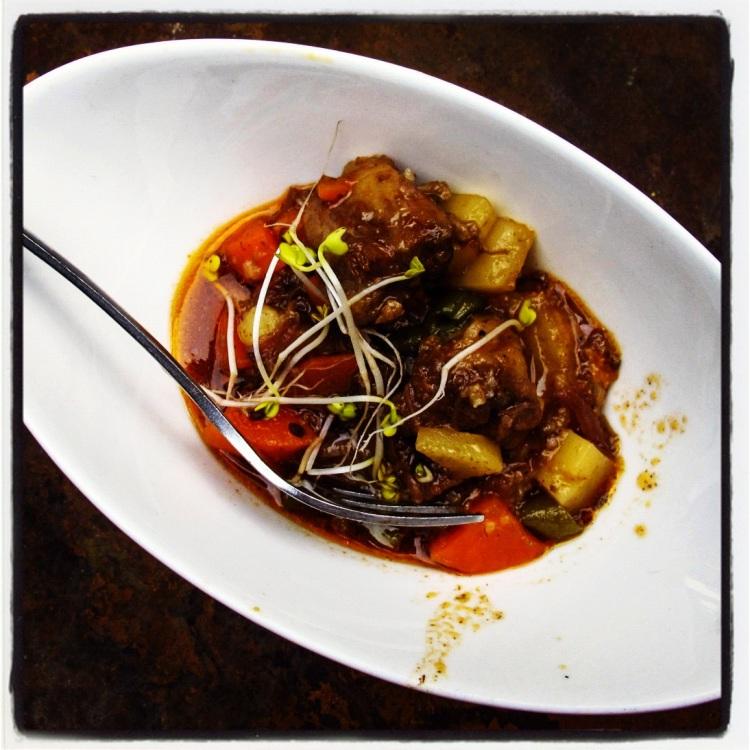 Nelson Mandela's favourite dish - oxtail stew.